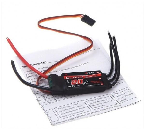 【新品】 Emax Simonk 20A ブラシレスモーター スピードコントローラー ESC 黒_画像1