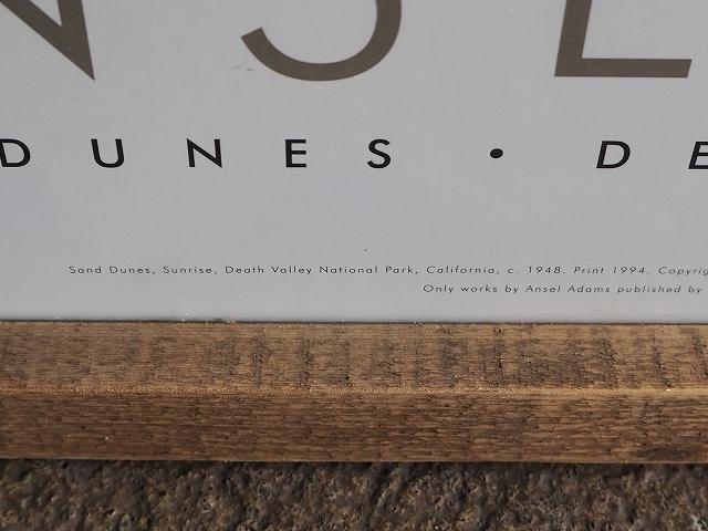 ANSEL ADAMSオフィシャル★アンセルアダムス★90's特大プリント95×65㎝特注フレーム入り★デスバレー国立公園★カリフォルニアDEATHVALLEY_画像5