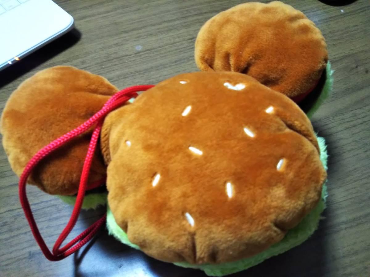 ☆DISNEY(ディズニー) ミッキーマウス顔型ハンバーガー バッグ/ポーチ/コインケース/パスケース 中古美品☆_画像4