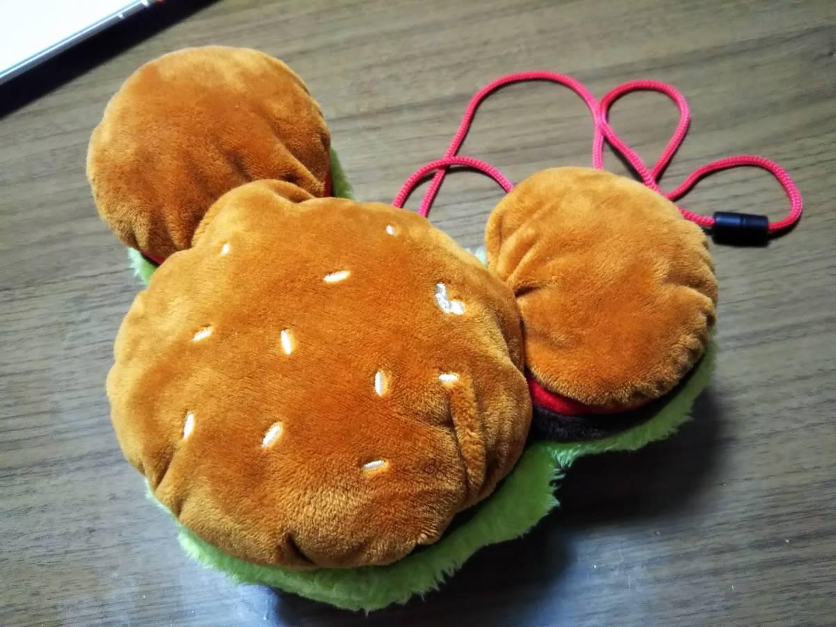 ☆DISNEY(ディズニー) ミッキーマウス顔型ハンバーガー バッグ/ポーチ/コインケース/パスケース 中古美品☆_画像1
