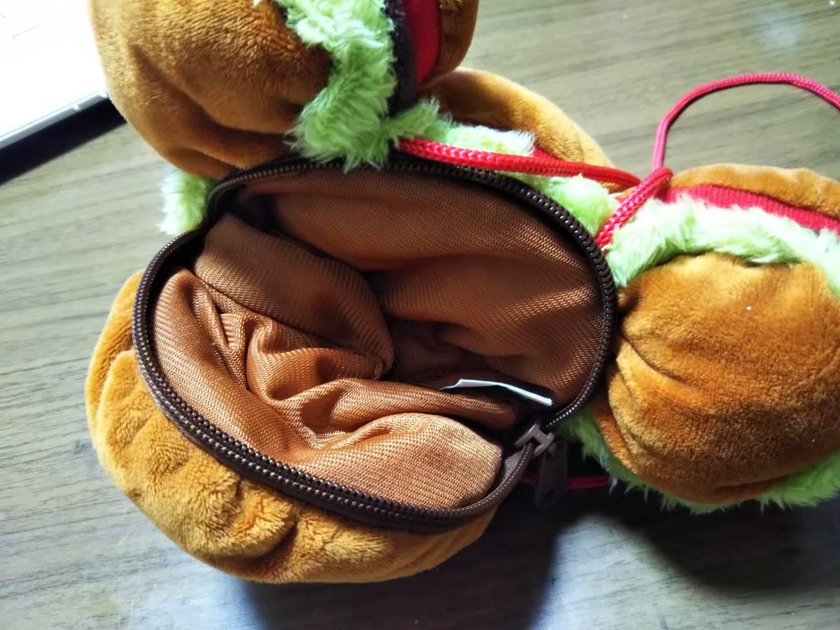 ☆DISNEY(ディズニー) ミッキーマウス顔型ハンバーガー バッグ/ポーチ/コインケース/パスケース 中古美品☆_画像2