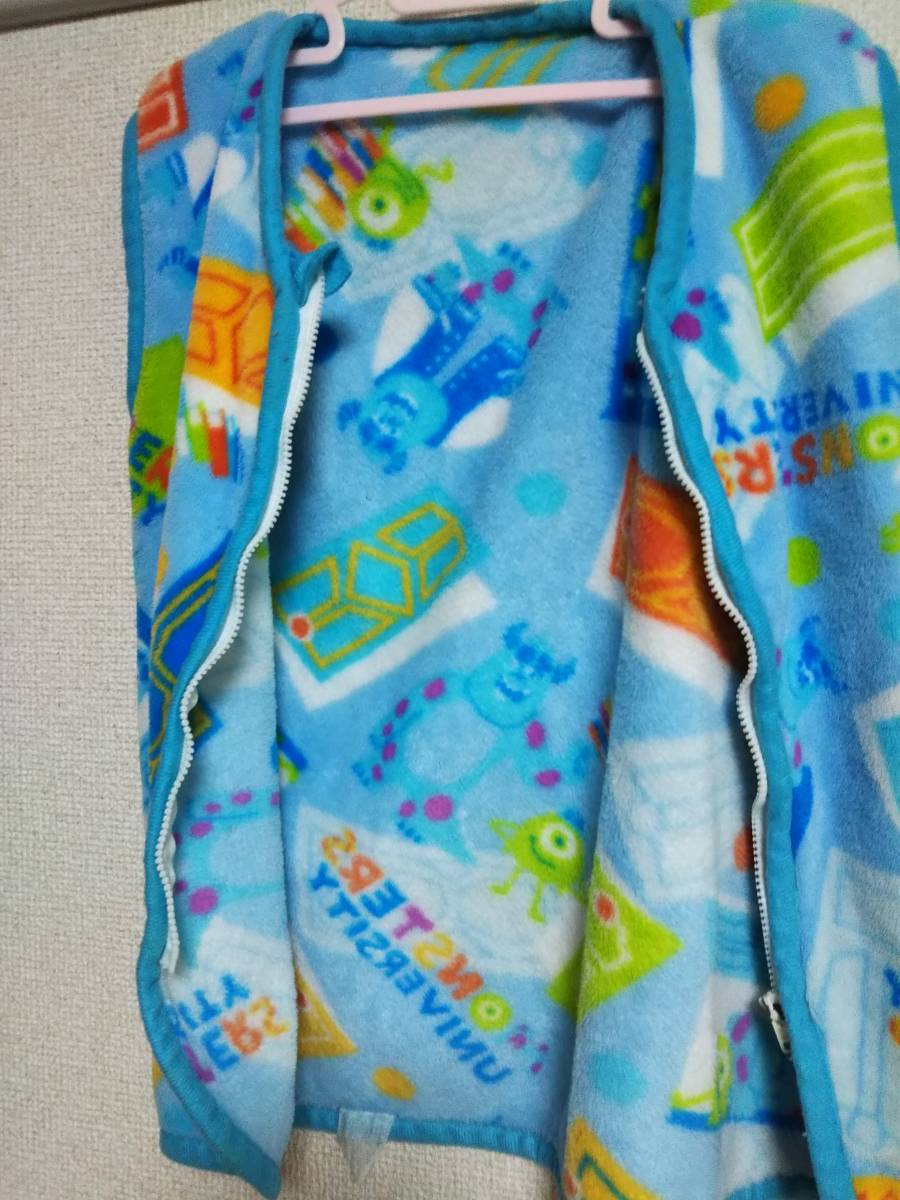 ☆子供用かいまき/スリーパー/着る毛布 3~5歳用 青☆_画像4
