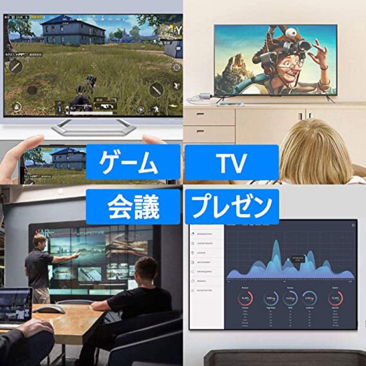 2021年最新版・iPhone/iPad/iPod用・HDMI変換ケーブル・AV変換アダプタ・ライトニング用・設定簡単・高解像度