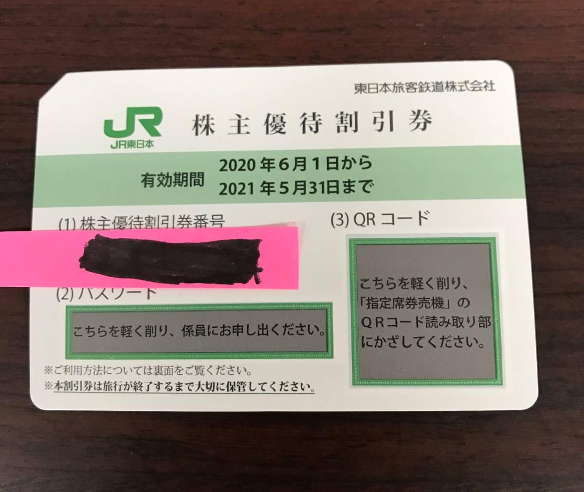 即決 送料無料 JR東日本 株主優待割引券 1枚 2021年5月31日まで_画像1