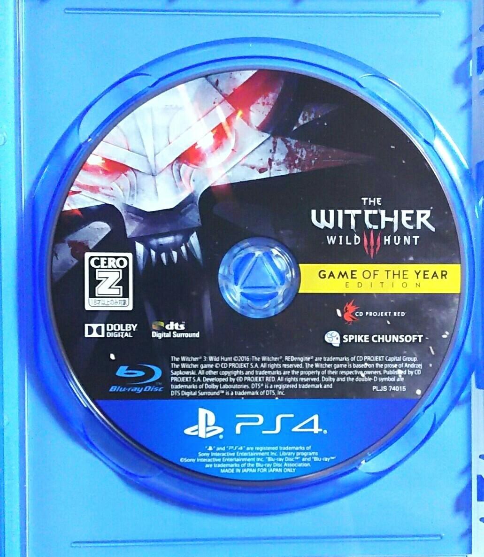 PS4 ウィッチャー3 ワイルドハント ゲームオブザイヤー エディション