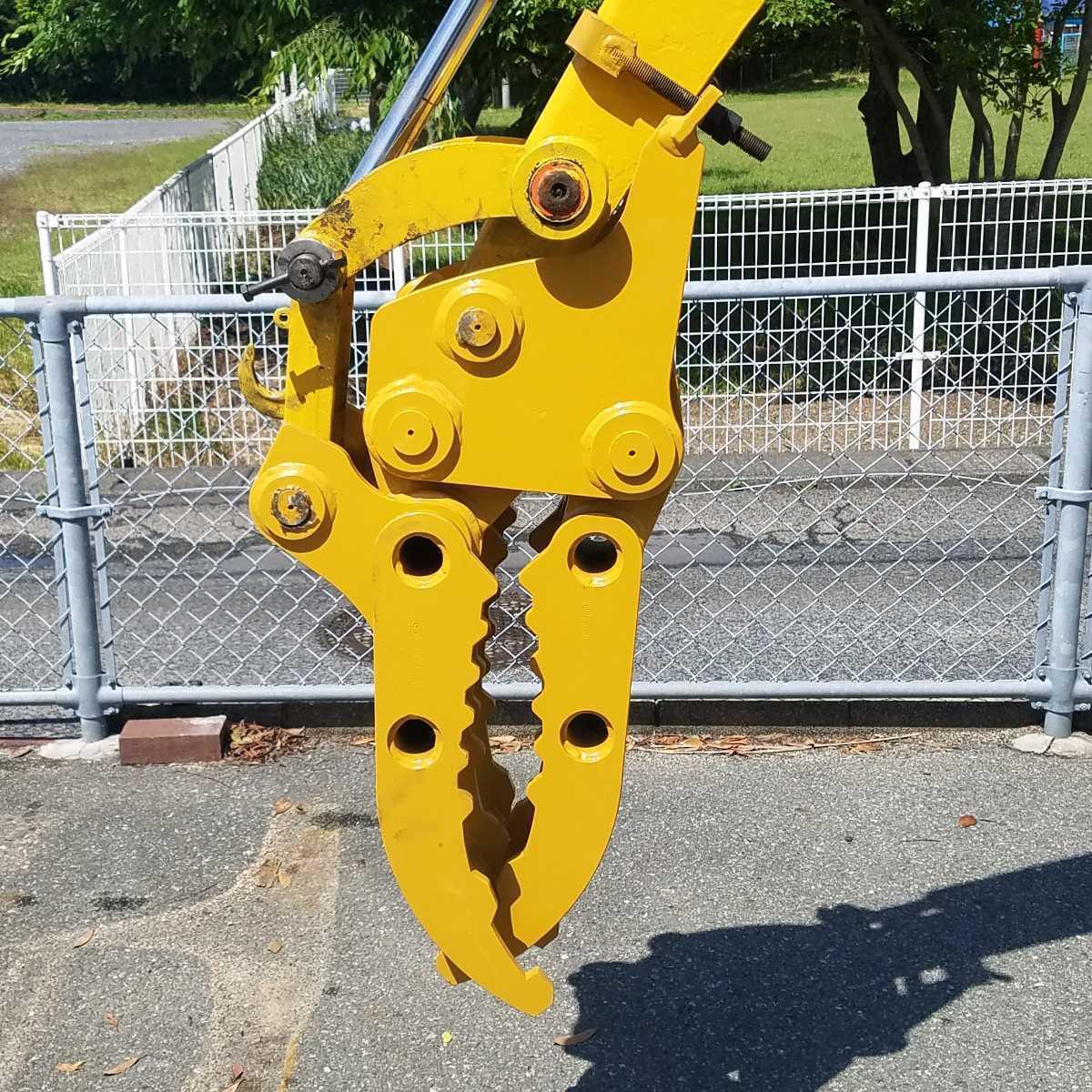 「★エース建機★3点式フォーク/掴み/グラッブピン径25mm/30mm.に適合します。1トンから2トン専用、90kg」の画像2