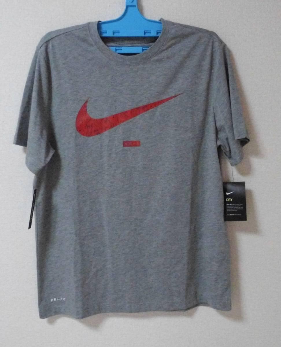 【デカロゴ】 NIKE ナイキ Tシャツ サイズXL BQ1854-063  色:グレー