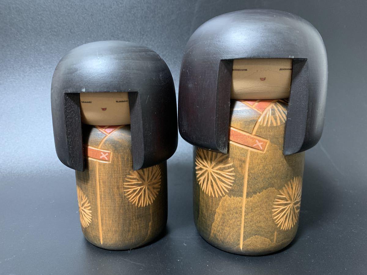 T7 創作こけし 関口三作 童女 卓越技能者 内閣総理大臣章 伝統工芸品 現代の名工 郷土玩具 生地玩具 木彫 置物 人形_画像3