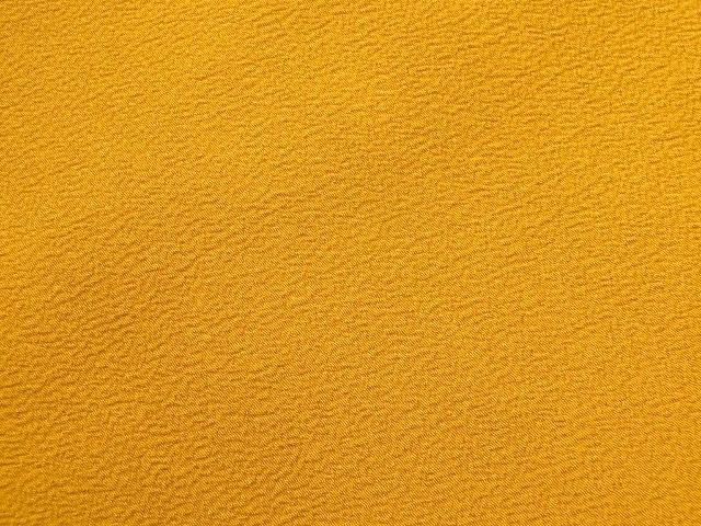 卒業式 入学式に 洗える 二尺袖きもの 色無地 着物 袴 身丈162 裄65 カラシ色 091_画像2