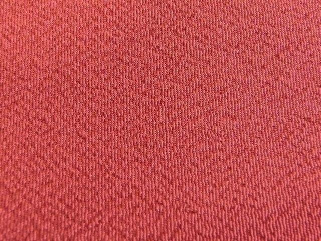 卒業式 入学式に 洗える 二尺袖きもの 色無地 着物 袴 身丈161.6 裄65.5 茜色 095_画像2