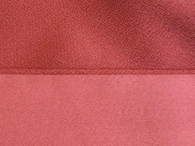 卒業式 入学式に 洗える 二尺袖きもの 色無地 着物 袴 身丈162 裄65.5 茜色 097_画像3