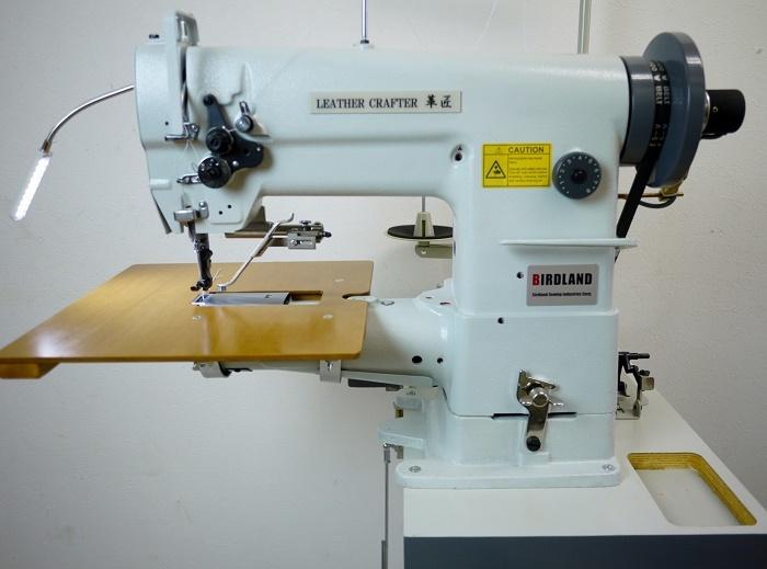 総合送り 工業用腕ミシン バードランド LC1-341 レザークラフト 革縫 極厚物 新品 届いてすぐに使えます_画像2