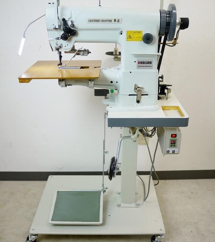 総合送り 工業用腕ミシン バードランド LC1-341 レザークラフト 革縫 極厚物 新品 届いてすぐに使えます_画像1