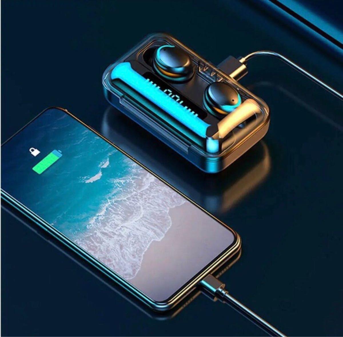 ワイヤレスイヤホン Bluetooth 高音質 イヤフォン モバイルバッテリー AirPods Bluetoothイヤホン