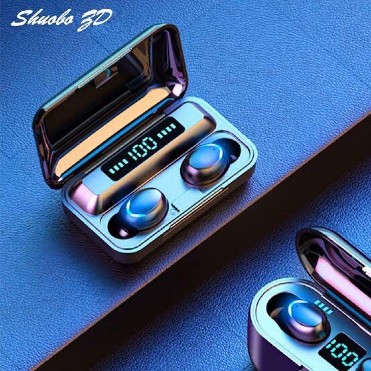 ワイヤレスイヤホン Bluetooth 高音質 イヤフォン モバイルバッテリー Bluetoothイヤホン AirPods