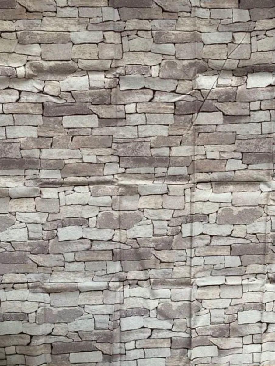 ハギレ・カットクロス   ストーン 石壁  ブロック   柄