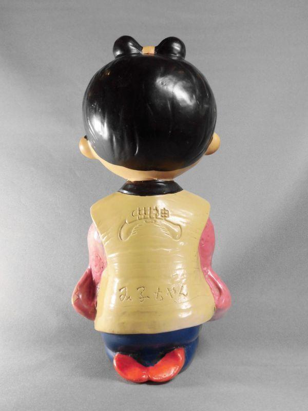 神州一みそ み子ちゃんソフビ ノベルティー人形 23cm【激レア・珍品・希少】ビンテージ 検索ペコちゃん グリコ _画像4