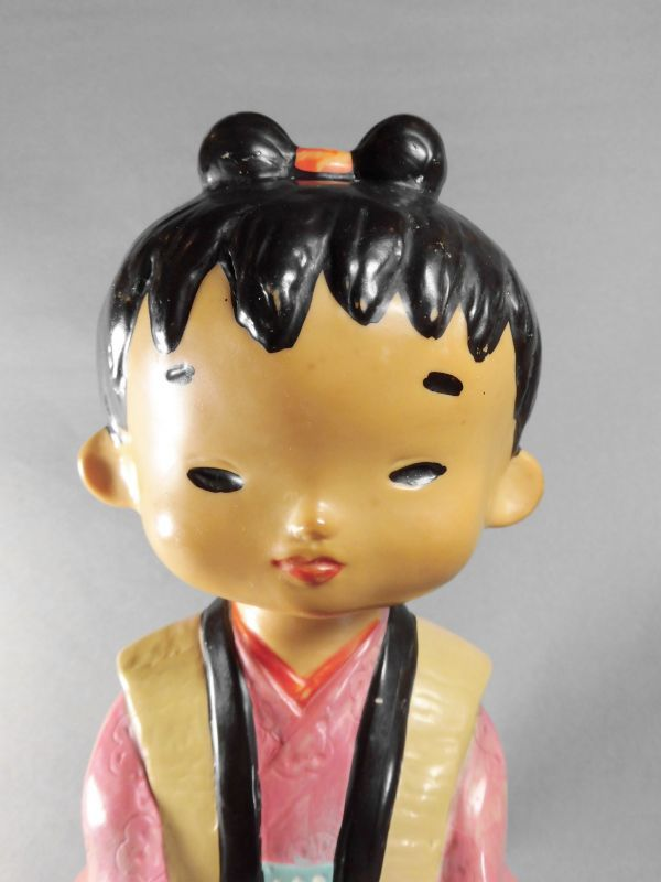 神州一みそ み子ちゃんソフビ ノベルティー人形 23cm【激レア・珍品・希少】ビンテージ 検索ペコちゃん グリコ _画像5
