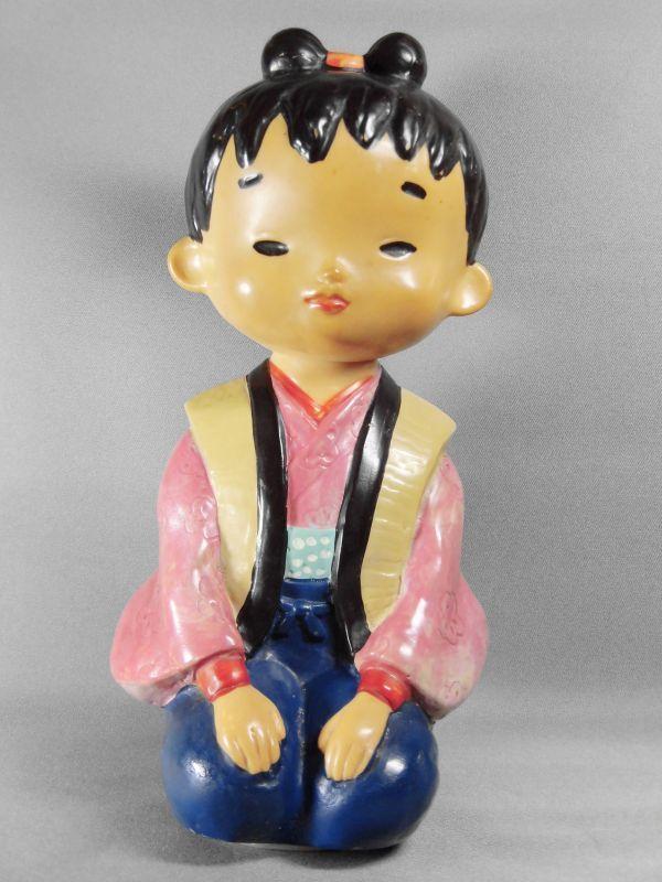 神州一みそ み子ちゃんソフビ ノベルティー人形 23cm【激レア・珍品・希少】ビンテージ 検索ペコちゃん グリコ _画像1