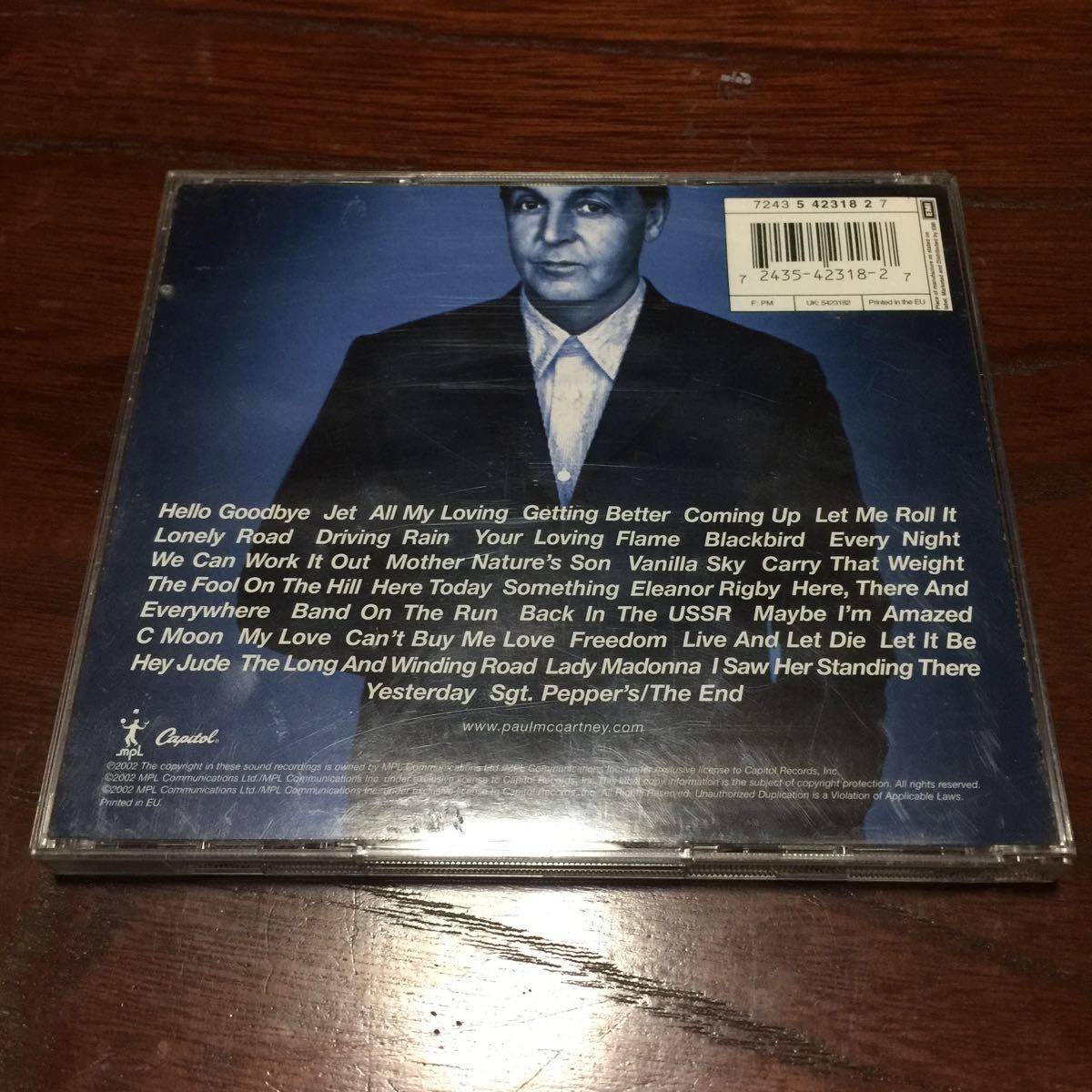 ポール・マッカートニー back in the u.s. LIVE 2002 EU盤2枚組CD
