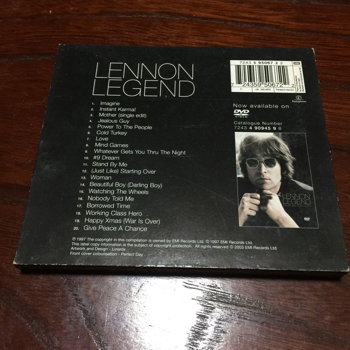 ジョン・レノン LENNON LEGEND オランダ盤CD【外箱付き】