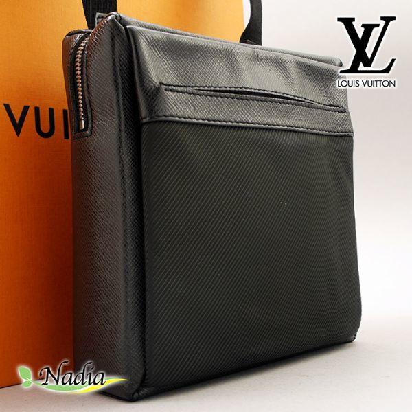 ■【極美品】ルイヴィトン Louis Vuitton タイガ サヤン ショルダーバッグ アルドワーズ 斜め掛け 鞄 ブラック レザー 定価約12万