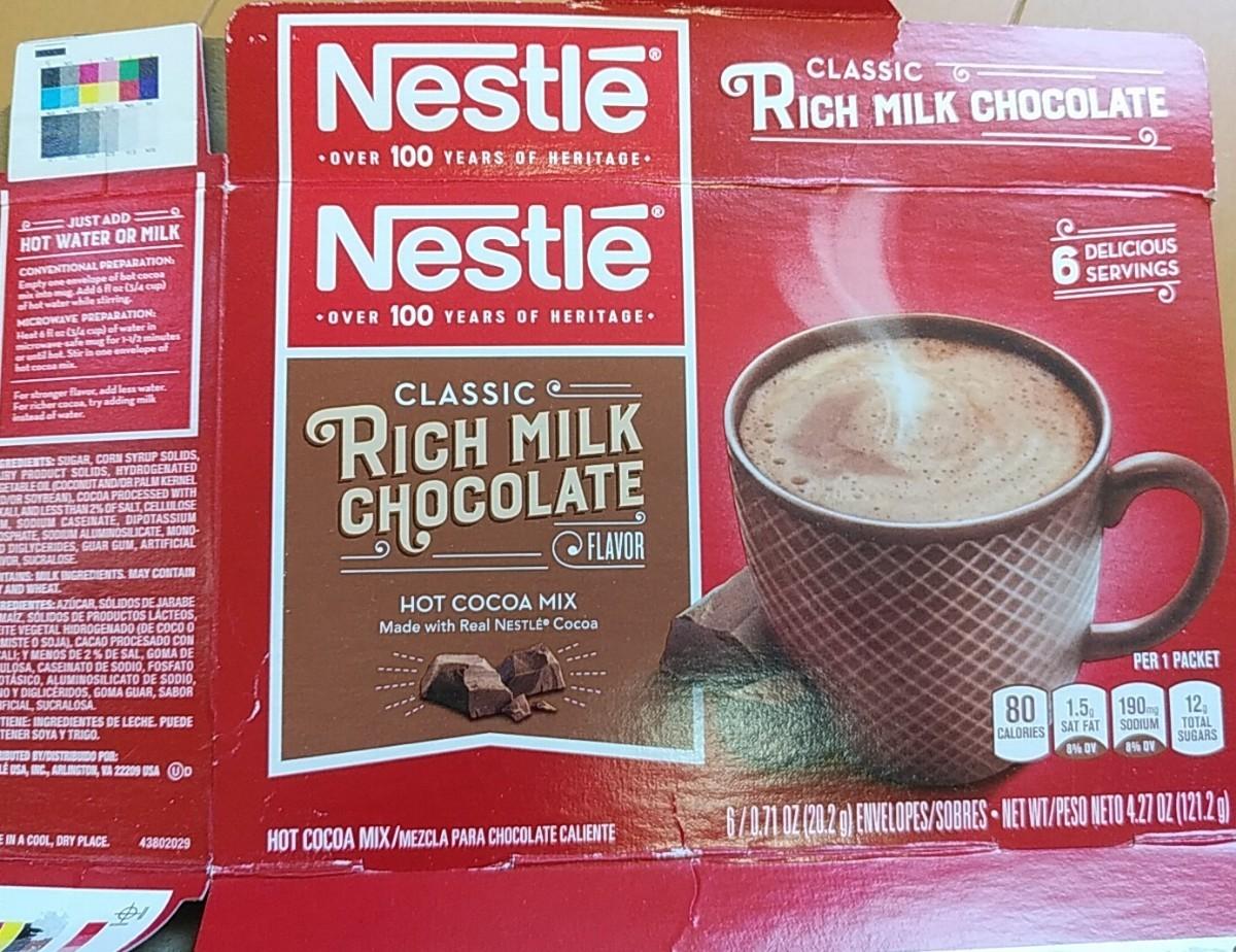 ネスレ ミルクチョコレート ココア