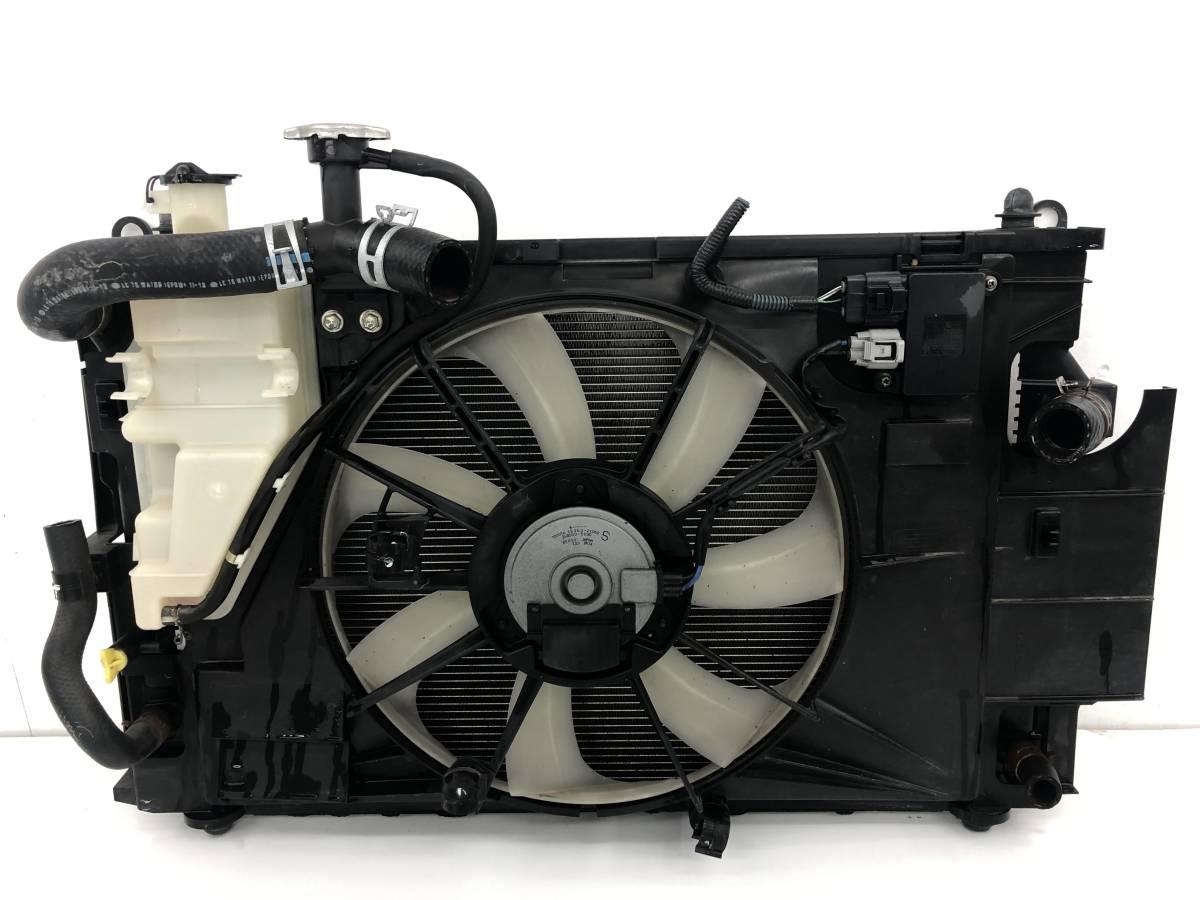 _b49753 トヨタ アクア S DAA-NHP10 ラジエター ラジエーター 電動ファン付き モーター 100222-2383 / 16363-21060 / 268000-5030_画像4