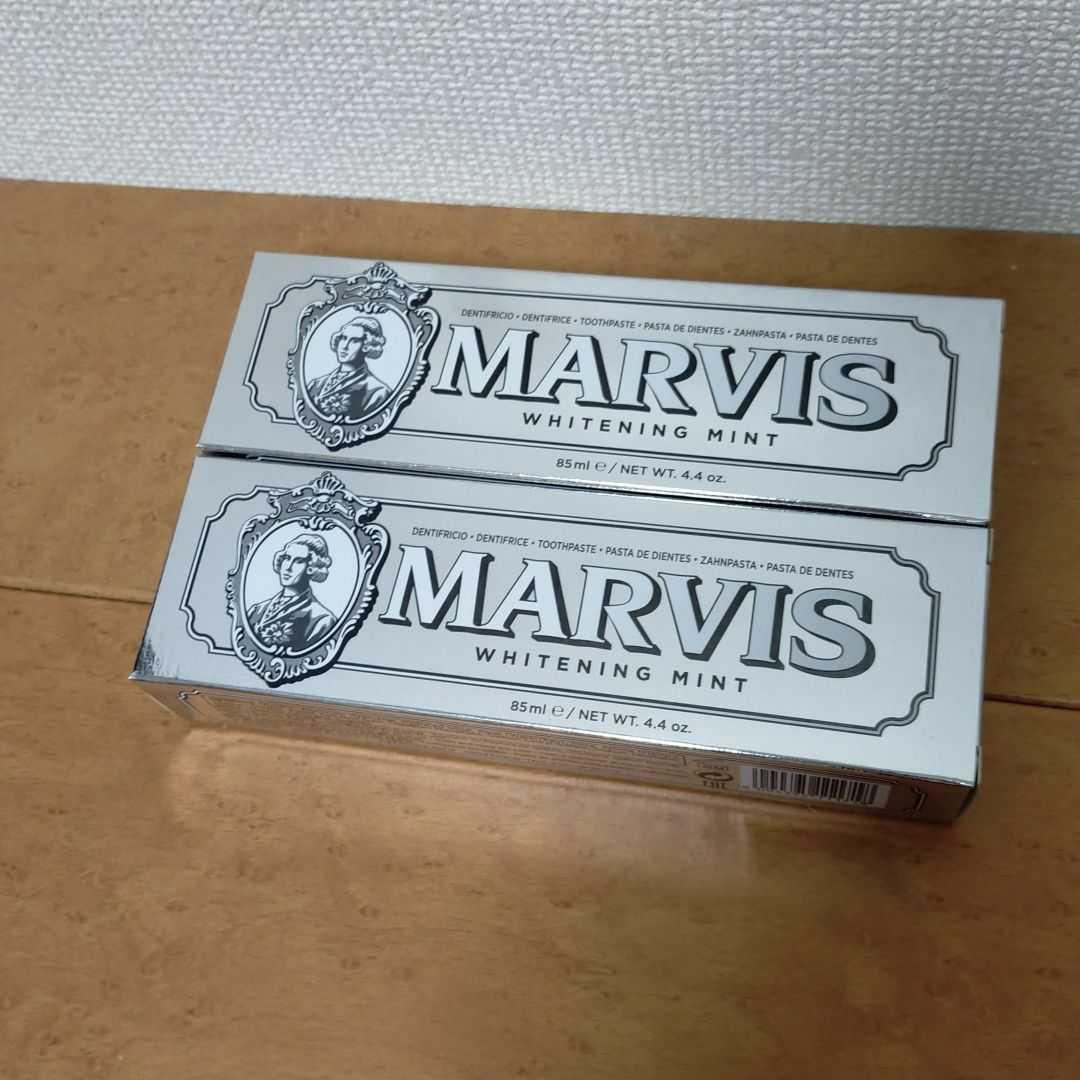 【匿名配送/送料無料】 MARVIS ホワイトニング ミント 85mL 2本_画像1