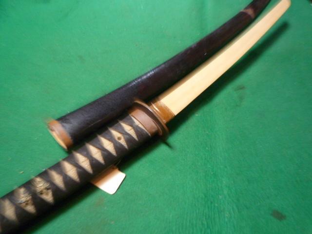 半太刀拵え中身なし銅金具の一作拵え  脇差刀短刀_画像5