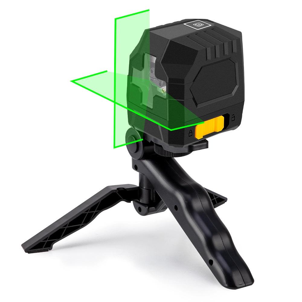 2線グリーンレーザーレベルクロスラインレーザー自己レベリング垂直と水平ライン超強力なグリーンレーザービームライン_画像1