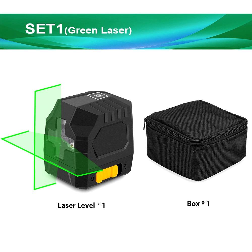 2線グリーンレーザーレベルクロスラインレーザー自己レベリング垂直と水平ライン超強力なグリーンレーザービームライン_画像2