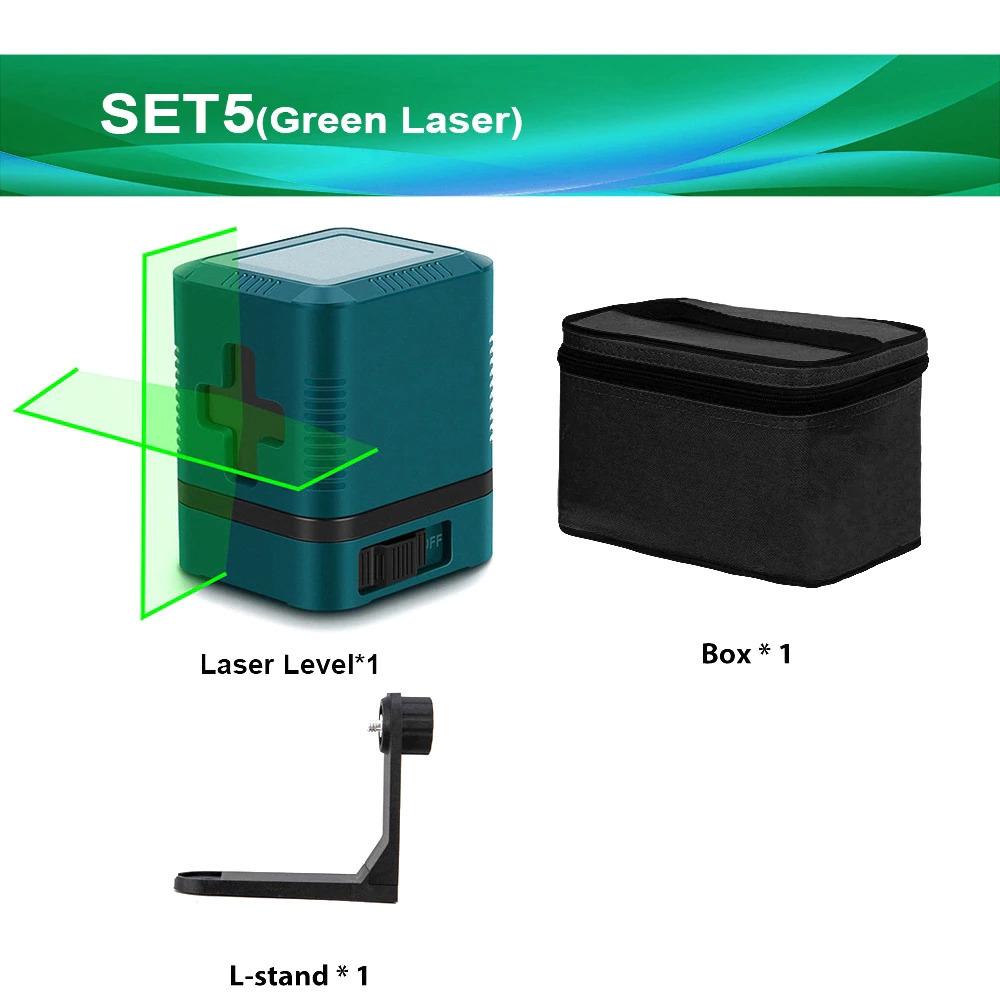 2線グリーンレーザーレベルクロスラインレーザー自己レベリング垂直と水平ライン超強力なグリーンレーザービームライン_画像6
