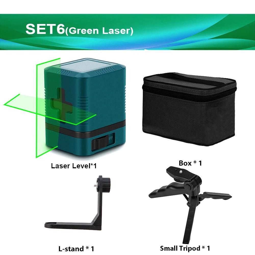 2線グリーンレーザーレベルクロスラインレーザー自己レベリング垂直と水平ライン超強力なグリーンレーザービームライン_画像7