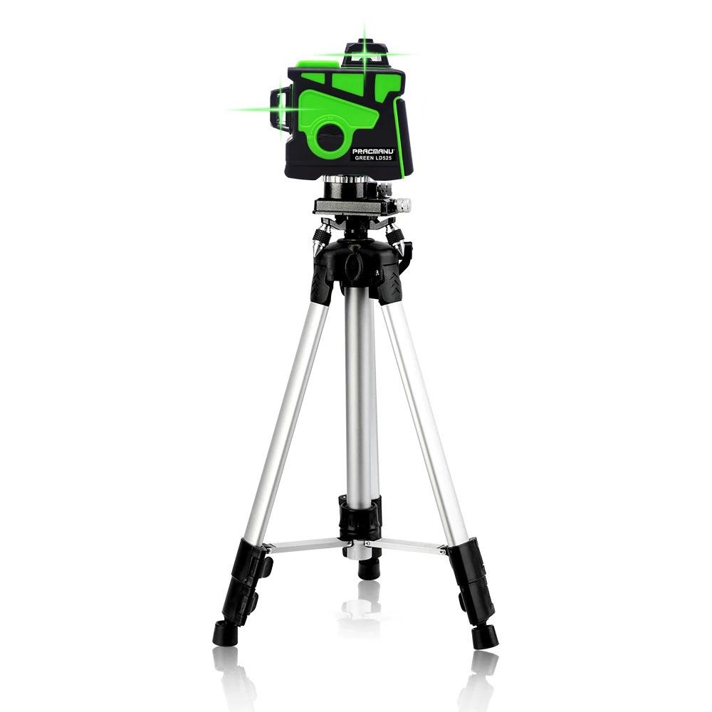 Pracmanu 12ライン3Dグリーンレーザーレベル水平および垂直クロスライン自動セルフレベリング_画像5