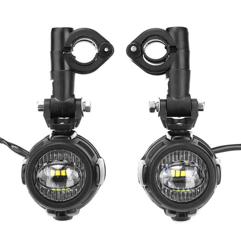 Faduiesペアユニバーサルオートバイled補助フォグライトassemblie運転ランプ40ワットledヘッドライト用bmw k1600 r1200gs adv_画像1