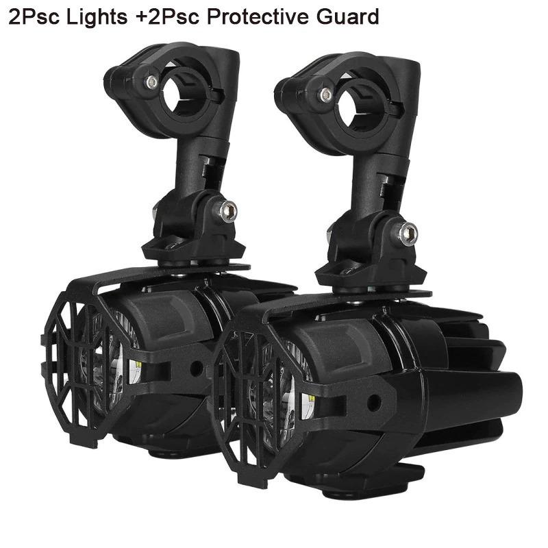 Faduiesペアユニバーサルオートバイled補助フォグライトassemblie運転ランプ40ワットledヘッドライト用bmw k1600 r1200gs adv_画像4
