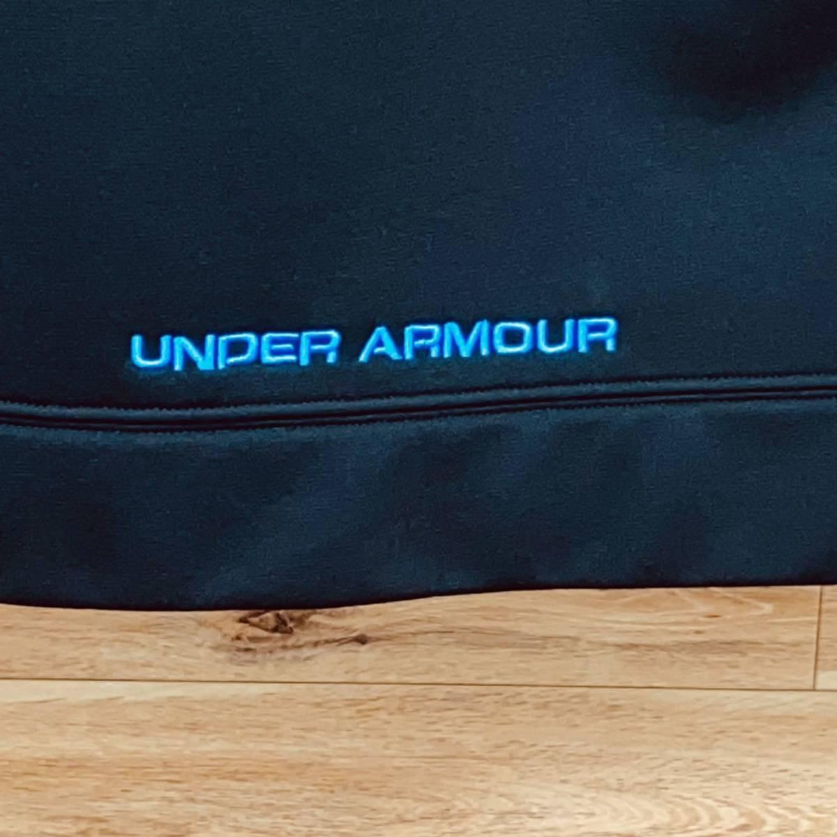 【人気ロゴ】アンダーアーマー スウェットパーカー M プルオーバー 黒 美品