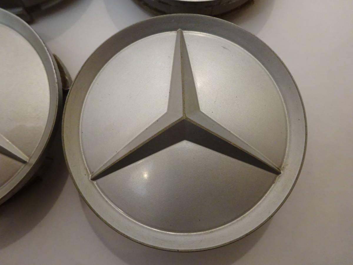 メルセデスベンツ純正ホイール センターキャップ 4個 シルバー 75mm 201 401 02 25 Mercedes-Benz_画像2