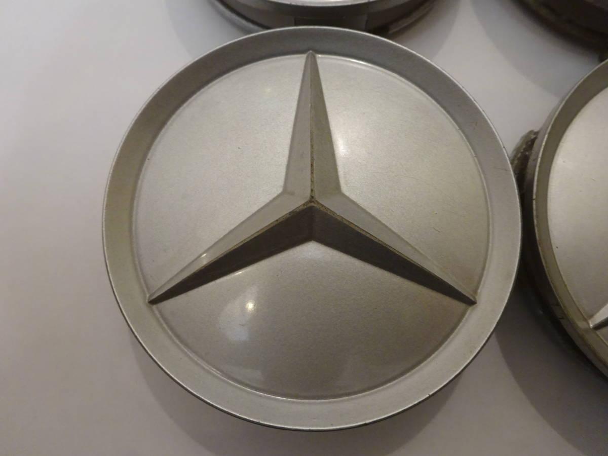メルセデスベンツ純正ホイール センターキャップ 4個 シルバー 75mm 201 401 02 25 Mercedes-Benz_画像3