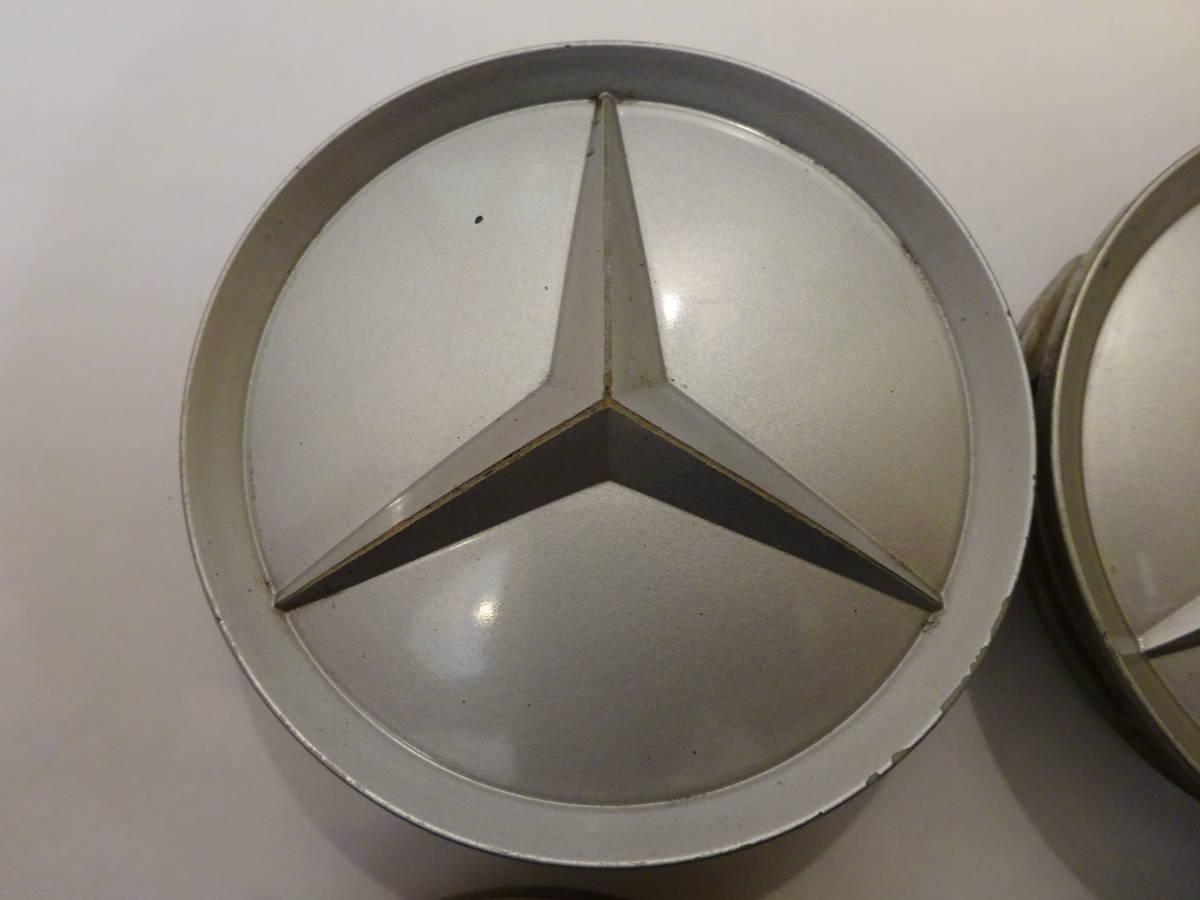 メルセデスベンツ純正ホイール センターキャップ 4個 シルバー 75mm 201 401 02 25 Mercedes-Benz_画像4
