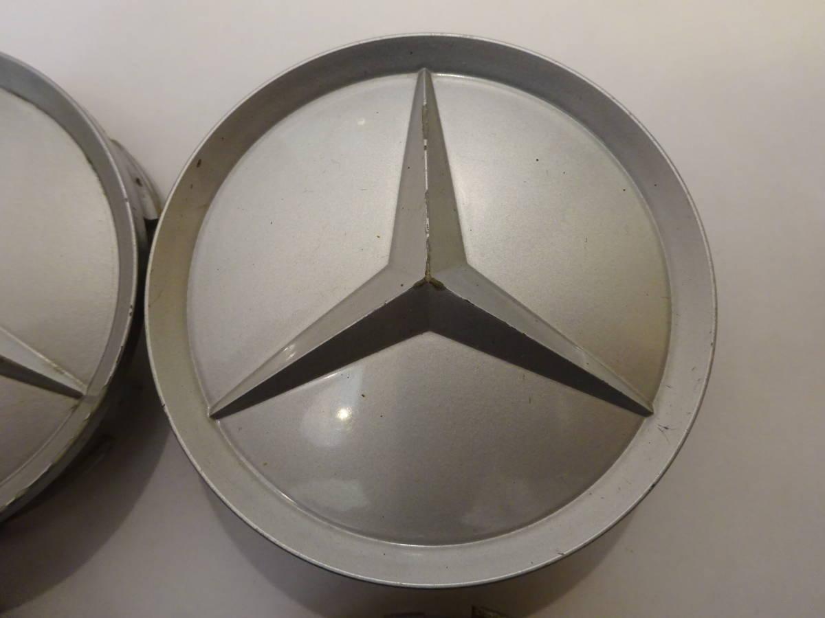 メルセデスベンツ純正ホイール センターキャップ 4個 シルバー 75mm 201 401 02 25 Mercedes-Benz_画像5
