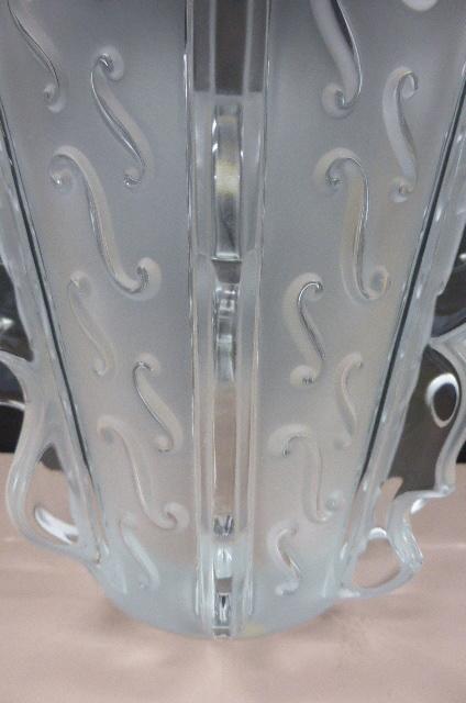 ★未使用保管品★ ラリック クリスタル  LALIQUE Crystal  フラワーベース 花瓶 花器 スウィング Swing 高さ18.5cm_画像7