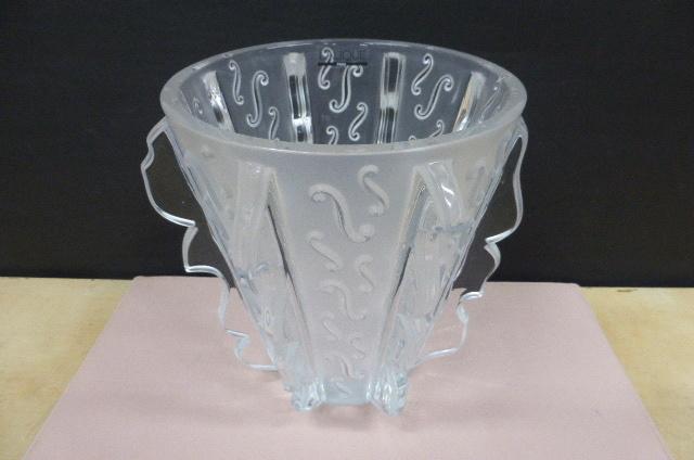 ★未使用保管品★ ラリック クリスタル  LALIQUE Crystal  フラワーベース 花瓶 花器 スウィング Swing 高さ18.5cm_画像2
