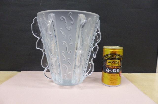 ★未使用保管品★ ラリック クリスタル  LALIQUE Crystal  フラワーベース 花瓶 花器 スウィング Swing 高さ18.5cm_画像1