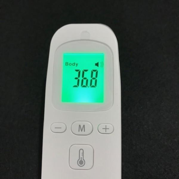 非接触体温計 液晶表示 1秒検温 会社大量注文承り 子供 大人 赤外線温度計 温度計 体温計 衛生 触れない 安全 ■ 新品_画像1