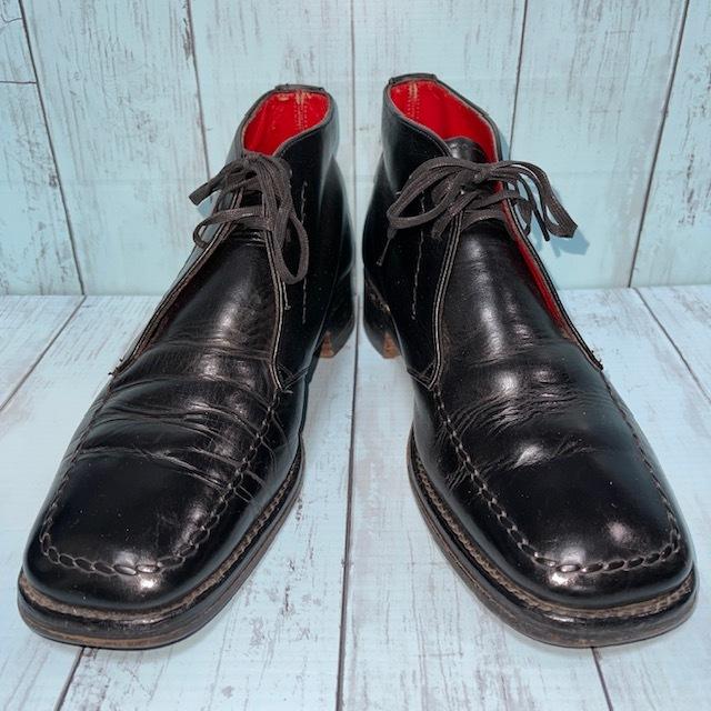 【即決/送料無料】ジェフリーウエスト JEFFERYーWEST Croaker UK8 黒色 ショートブーツ チャッカブーツ_画像1