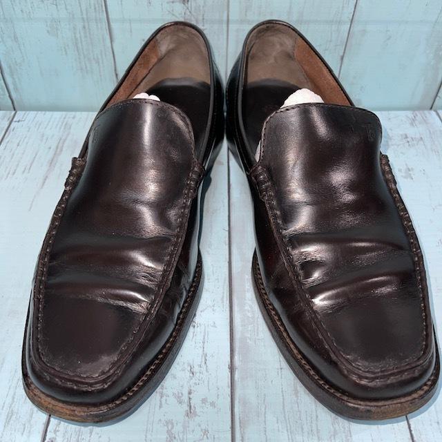 【即決/送料無料】トッズ TOD'S UK5 黒色 ローファー ドライビングシューズ スリッポン 革靴_画像1