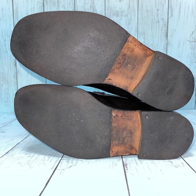 【即決/送料無料】トッズ TOD'S UK5 黒色 ローファー ドライビングシューズ スリッポン 革靴_画像6