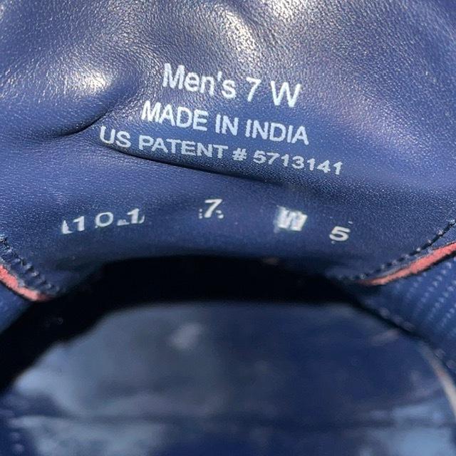 【即決/送料無料】COLE HAAN コール・ハーン プレーントゥ US7 25cm クロコ型押し 黒 ブラック 革靴_画像8